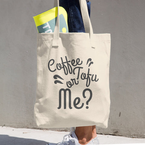 """Coffee Tofu or Me"" Shopping Bag"