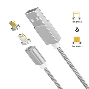 Magnetic Charger Silver-Surfer 1 Bolt Cable + 3 Tips