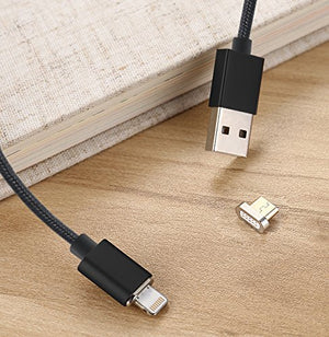 Magnetic Charger Black 1 Bolt Cable + 3 Tips