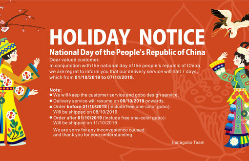 HOLIDAY NOTICE - National Day of the People's Republic of China