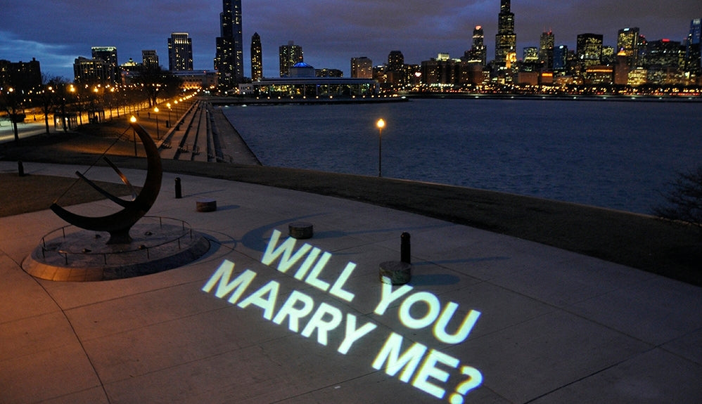 WILL YOU MARRY ME - 80W Outdoor Projector