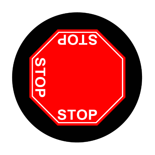 2 way stop sign glass gobo pattlern Instagobo