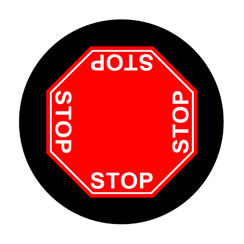 4 way stop sign glass gobo pattern Instagobo