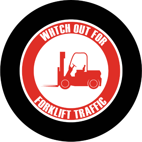 Watch Out for Forklift Traffic sign glass gobo pattern Instagobo