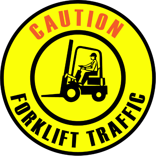 Forklift Traffic Caution sign glass gobo pattern Instagobo