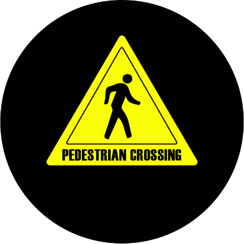 Pedestrian Crossing sign glass gobo pattern Instagobo
