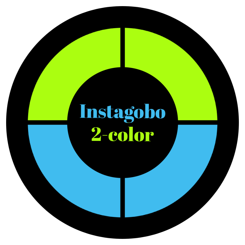 2-Color Glass Gobo Custom Instagobo