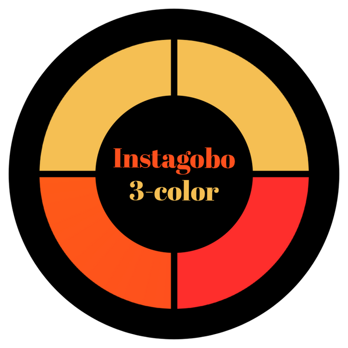 Three Color Glass Gobo Custom Instagobo