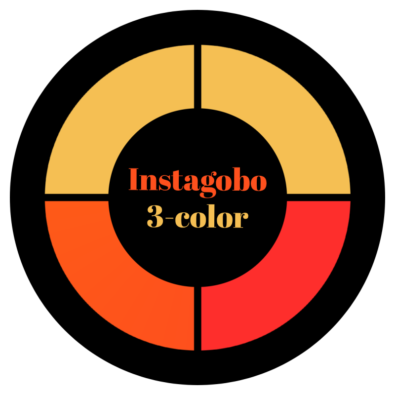 Instagobo 3-color custom gobo for A size B size D size E size M size