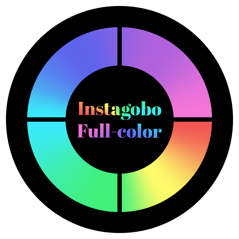 Instagobo full-color custom gobo for A size B size D size E size M size