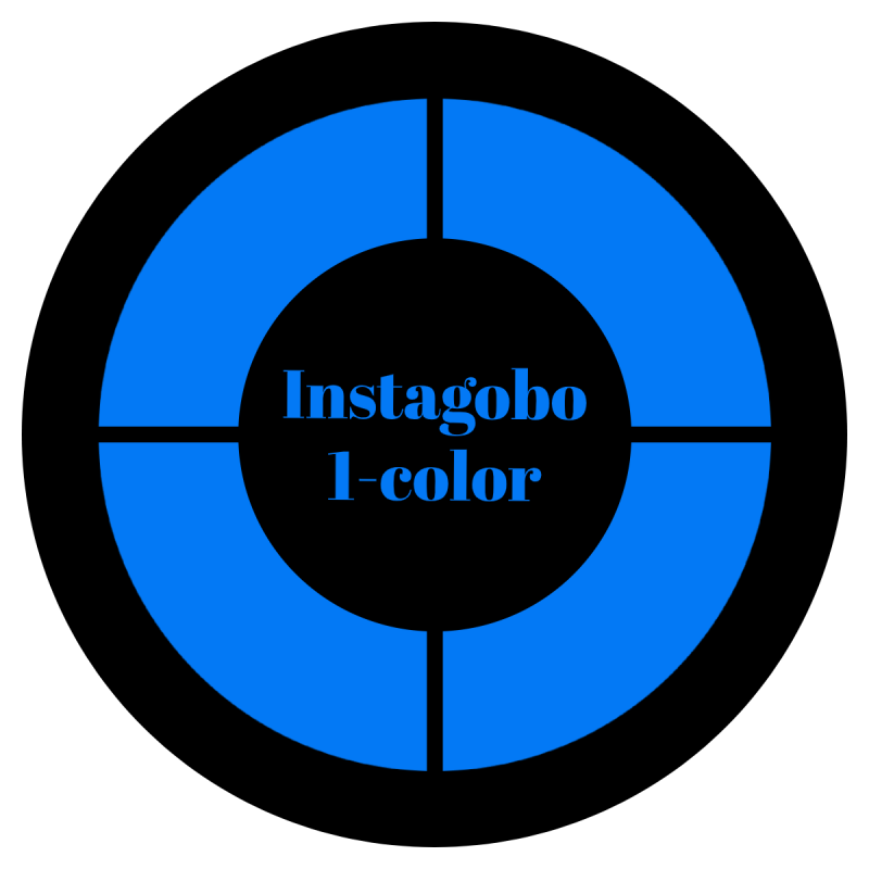 Instagobo 1-color custom gobo for A size B size D size E size M size