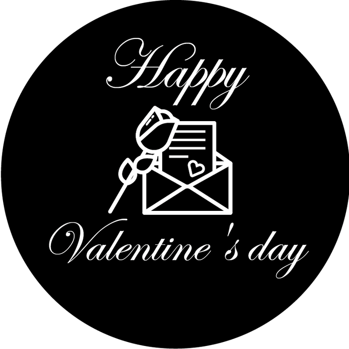 Valentine's day glass gobo - 9013
