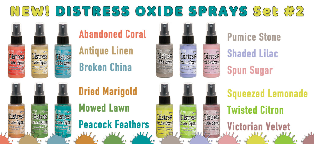 NEW Distress Oxide Sprays, Set #2