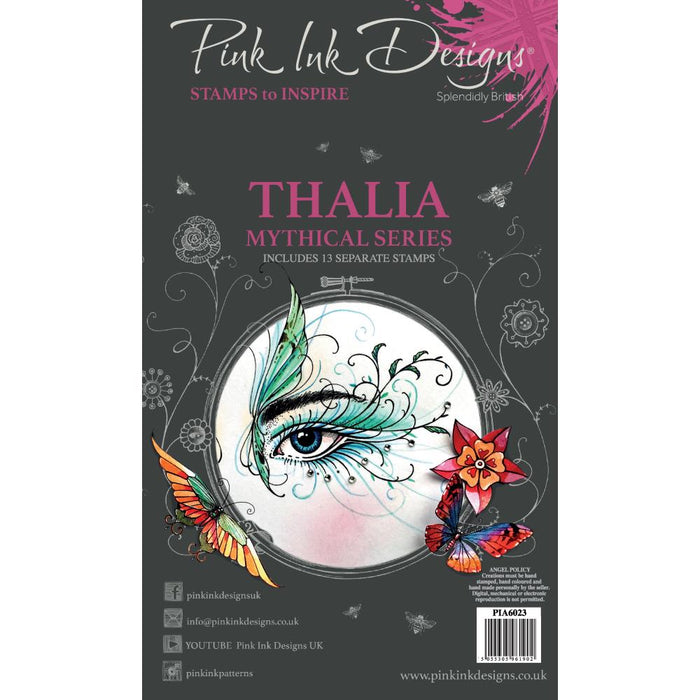 "Pink Ink Designs 6""x4"" Clear Stamps: Thalia (PI0A6023)"