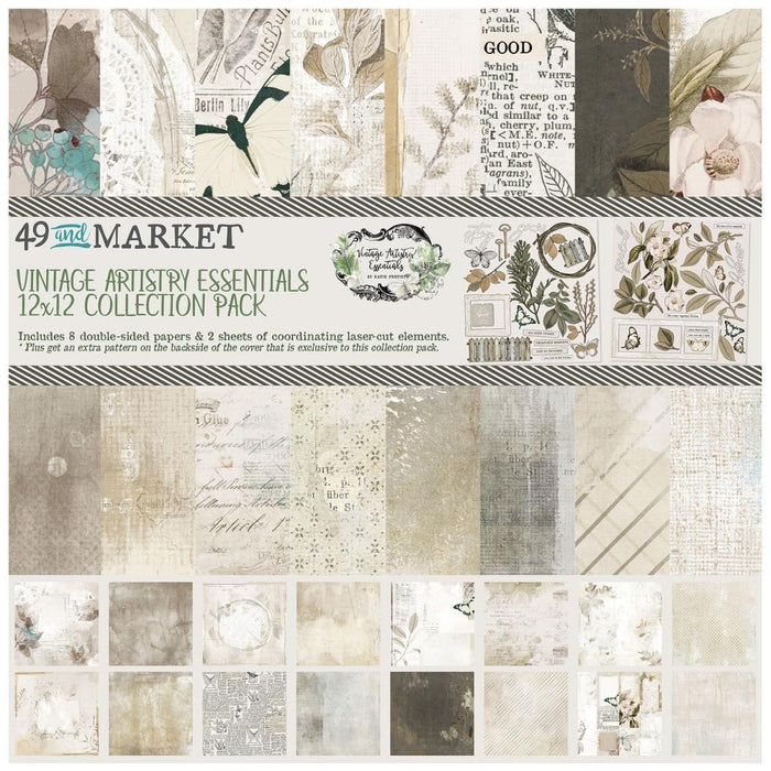 "49 and Market Vintage Artistry Essentials 12""x12"" Collection Pack (VAE34192)-Only One Life Creations"