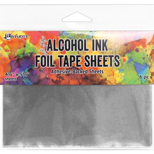 "Alcohol Ink Foil Tape Sheets 6pc, 4.25"" x 5.5"", by Tim Holtz (TAC58533)-Only One Life Creations"