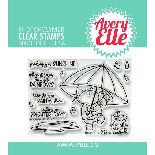"Avery Elle 4""x3"" Clear Stamps: Look for Rainbows (AE2106)-Only One Life Creations"