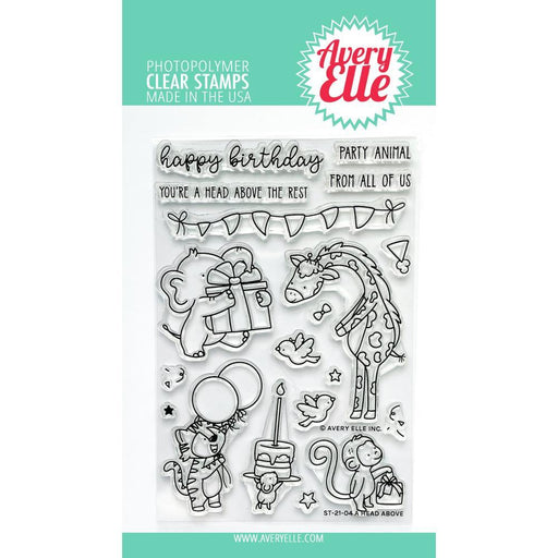 "Avery Elle 4""x6"" Clear Stamps: A Head Above (AE2104)-Only One Life Creations"