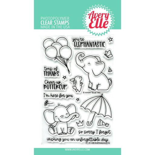 "Avery Elle 4""x6"" Clear Stamps: Elephantastic (AE2108)-Only One Life Creations"