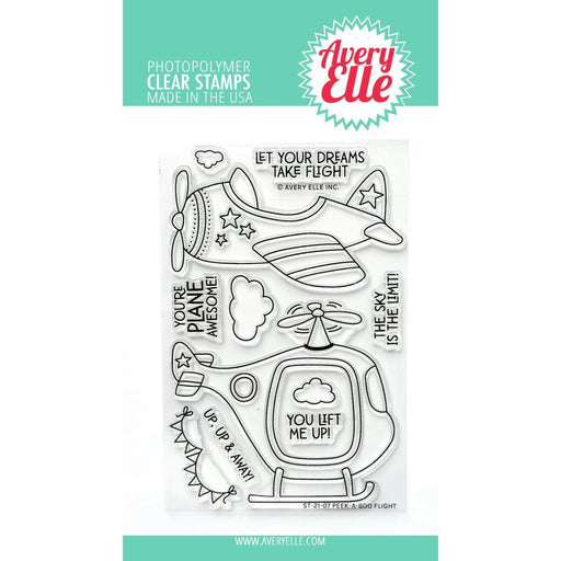 "Avery Elle 4""x6"" Clear Stamps: Peek-a-boo Flight (AE2107)-Only One Life Creations"