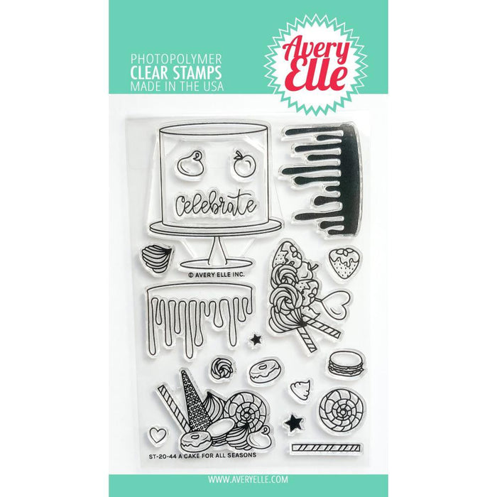 "Avery Elle 4""x6"" Clear Stamps Set: A Cake For All Seasons (AE2044)-Only One Life Creations"