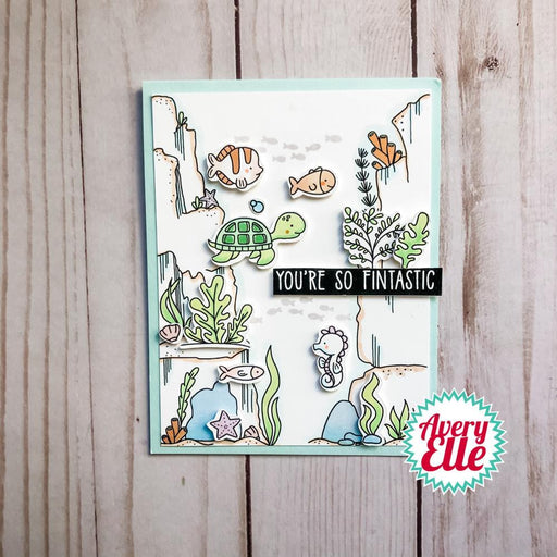 "Avery Elle 4""x6"" Clear Stamps: Underwater Background Builder (AE2103)-Only One Life Creations"