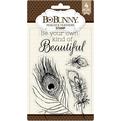 "BoBunny 4""x6"" Clear Stamps: Peacock Feathers (7311137)-Only One Life Creations"