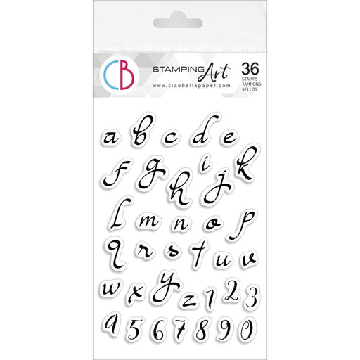"Ciao Bella 4""x6"" Clear Stamp: Moonlight Lowercase Alphabet (PS6008)-Only One Life Creations"