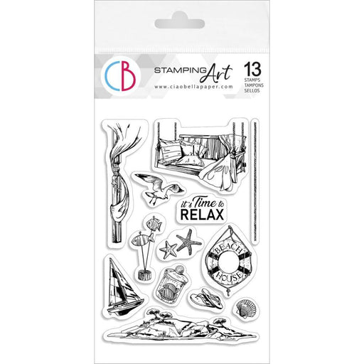 "Ciao Bella 4""x6"" Clear Stamps: It's Time To Relax (PS6024)-Only One Life Creations"
