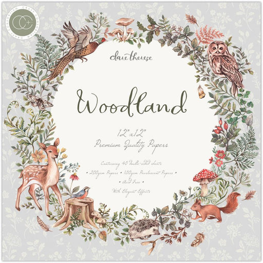"Craft Consortium 12""x12"" Paper Pad: Woodland (PAD023)-Only One Life Creations"