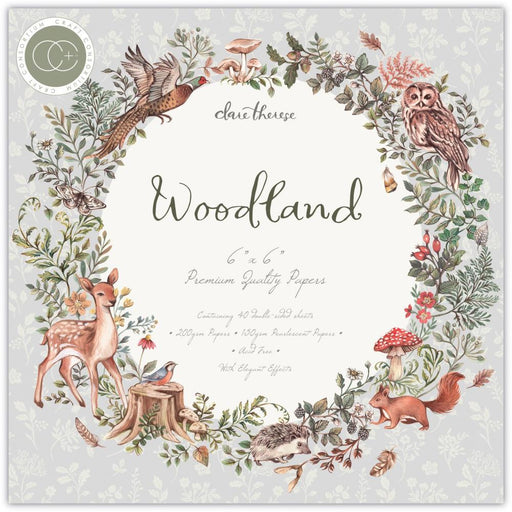 "Craft Consortium 6""x6"" Double-Sided Paper Pad: Woodland (PPAD023B)-Only One Life Creations"