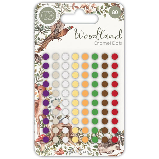 Craft Consortium Adhesive Enamel Dots: Woodland (CADOT010)-Only One Life Creations