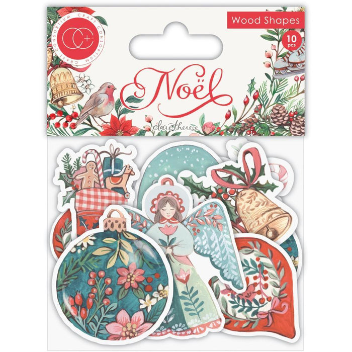 Craft Consortium Laser-Cut Wooden Shapes: Noel 10/Pkg (CWDNS009)-Only One Life Creations