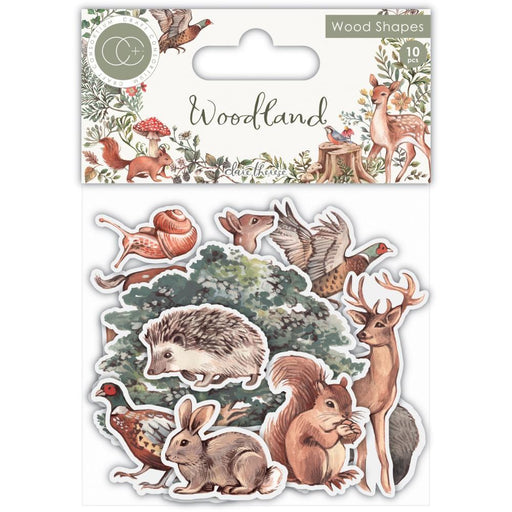 Craft Consortium Laser Cut Wooden Shapes: Woodland (CWDNS012)-Only One Life Creations