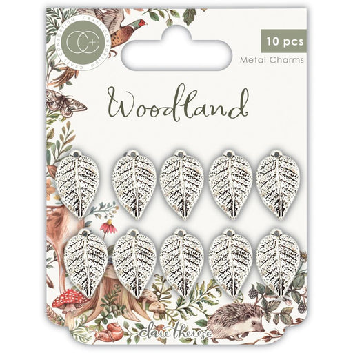 Craft Consortium Metal Charms: Woodland, Silver Leaf (CCMCHR19)-Only One Life Creations