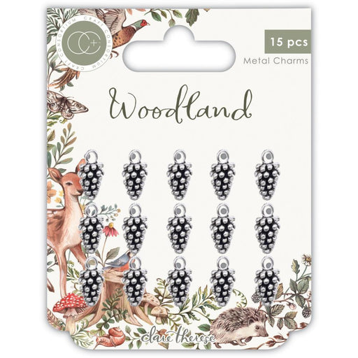 Craft Consortium Metal Charms: Woodland, Silver Pine Cone (CCMCHR18)-Only One Life Creations