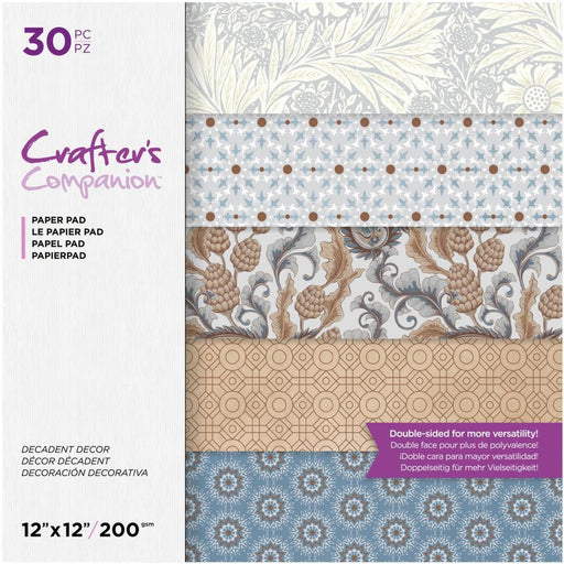 "Crafter's Companion 12""x12"" Double Sided Paper Pad: Decadent Decor (12DDEC30)-Only One Life Creations"