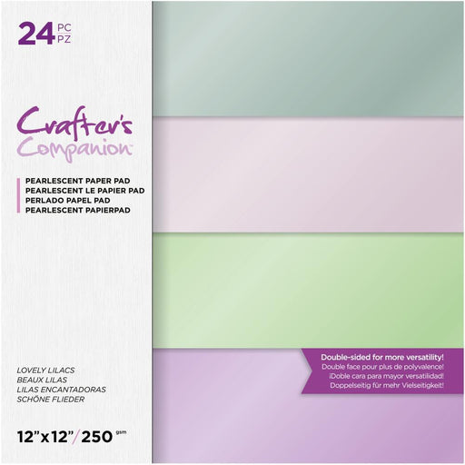 "Crafter's Companion 12""x12"" Pearl Paper Pad: Lovely Lilacs (12LOVLI)-Only One Life Creations"