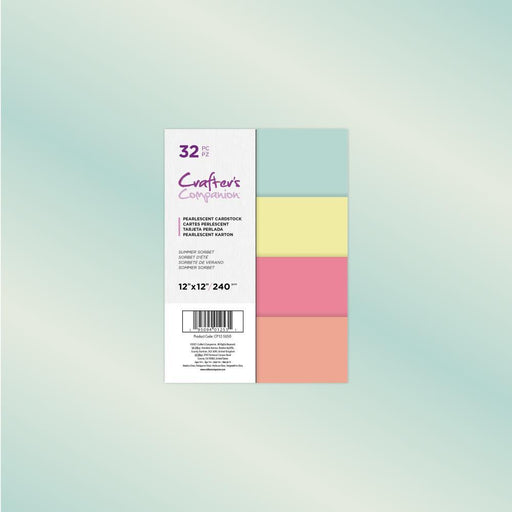 "Crafter's Companion 12""x12"" Pearl Paper: Summer Sorbet (12SUSO)-Only One Life Creations"