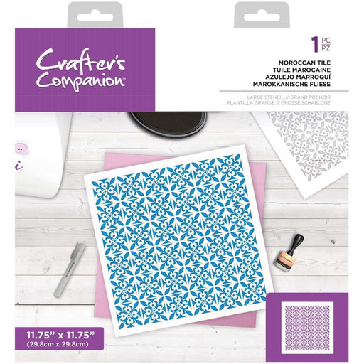 "Crafter's Companion 12""x12"" Stencil: Moroccan Tile (ENLMORO)-Only One Life Creations"