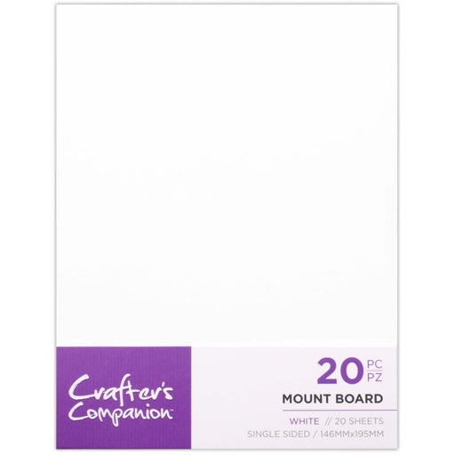 "Crafter's Companion 6""x8"" Mount Board: White (MOUNTW20)-Only One Life Creations"
