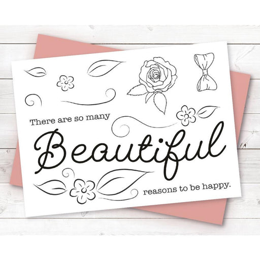 Crafter's Companion Clear Stamps: Beautiful (TPBEAUT)-Only One Life Creations