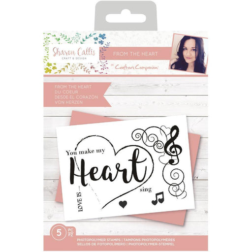 Crafter's Companion Clear Stamps: From the Heart (TPFTHE)-Only One Life Creations