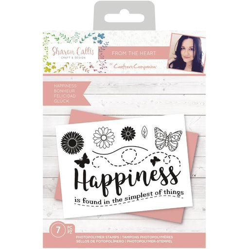 Crafter's Companion Clear Stamps: Happiness (TPHAPPI)-Only One Life Creations