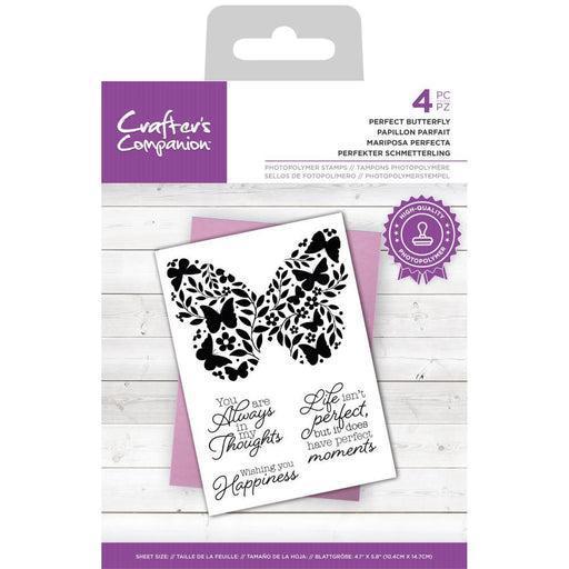 Crafter's Companion Clear Stamps: Perfect Butterfly (TPPERBUT)-Only One Life Creations