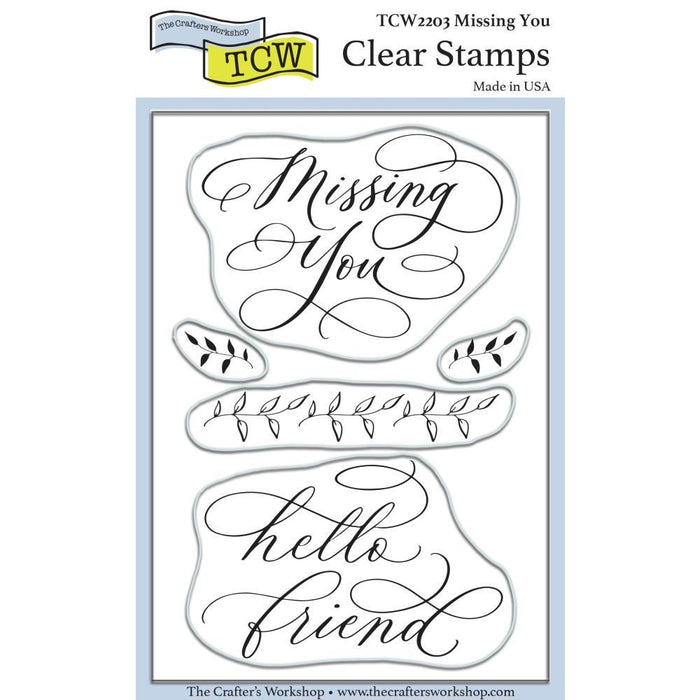 "Crafter's Workshop 4""x6"" Clear Stamps: Missing You (TCW2203)-Only One Life Creations"