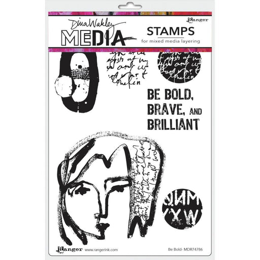 "Dina Wakley 6""x9"" Media Cling Stamps: Be Bold (MDR74786)-Only One Life Creations"
