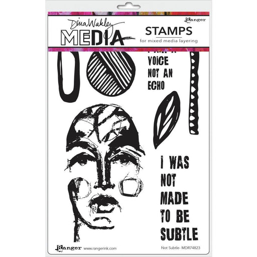 "Dina Wakley 6""x9"" Media Cling Stamps: Not Subtle (MDR74823)-Only One Life Creations"
