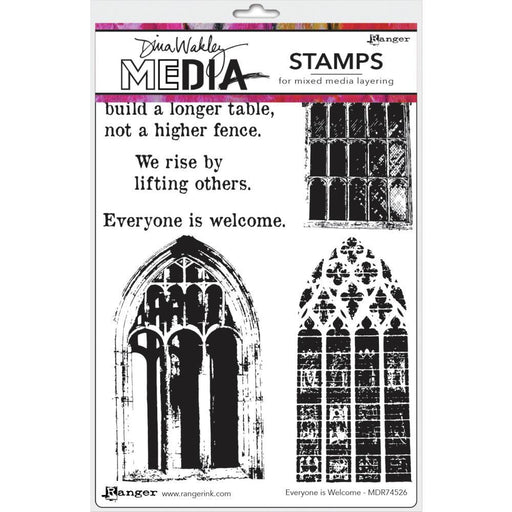 "Dina Wakley Media 6""X9"" Cling Stamps: Everyone Is Welcome (MDR74526)-Only One Life Creations"