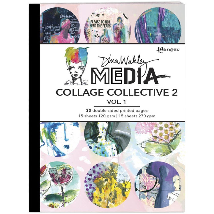 Dina Wakley Media Mixed Media Collage Collective 2, Vol 1 (MDA71532)-Only One Life Creations